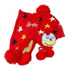 Bộ Mũ len kèm khăn hình sao cho bé