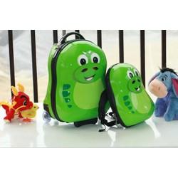 Bộ vali kéo cuties rắn xanh Push