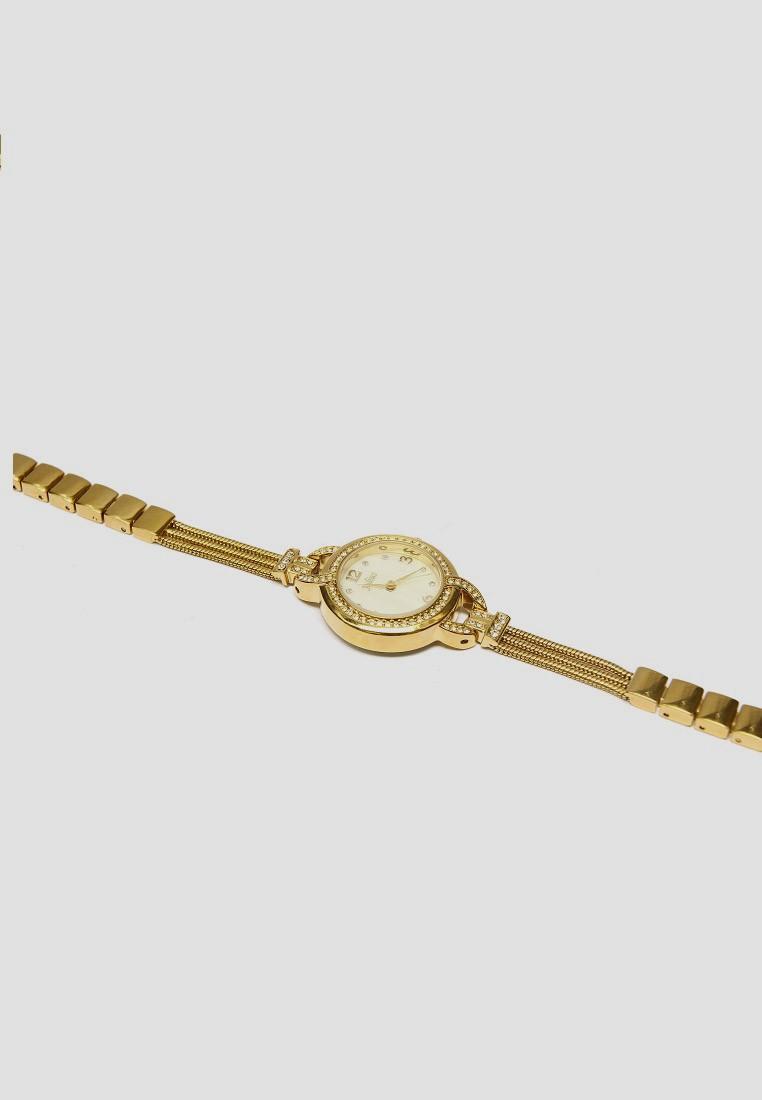 Đồng Hồ Nữ JULIUS vàng đính hạt TAJU983 5