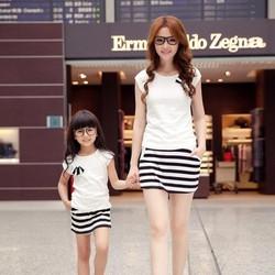 Combo bộ đồ đôi cho mẹ và bé gái MS27