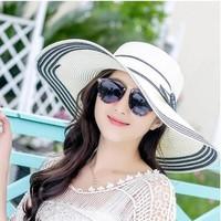 nón mũ rộng vành thời trang Hàn thiết kế mới