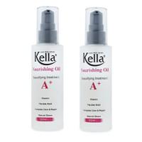 Bộ 2 sản phẩm Dầu Bóng Dưỡng Tóc Kella Nourishing Oil A+ 60ml
