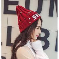 nón mũ len NEWYORK thời trang thu đông thiết kế mới 2015