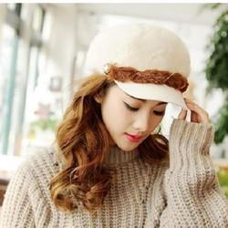 nón mũ len lông thời trang mùa đông không lạnh phong cách Hàn