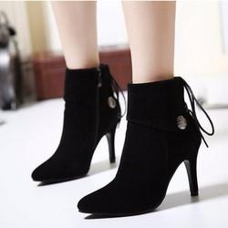Giày boot nhung phong cách Hàn Quốc B016D- F3979.com