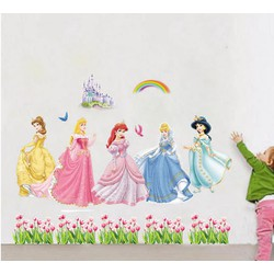 Decal dán tường 5 nàng công chúa