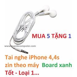 Tai nghe iPhone 4,4s zin theo máy - Board xanh - Tốt - Loại 1