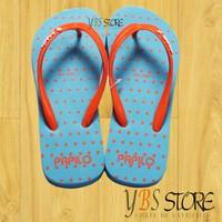 [YBS Store] Dép Lào Xỏ Ngón Thái Lan Papilo Chấm Bi Xanh Da Size 35