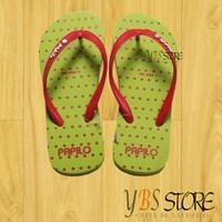 [YBS Store] Dép Lào Xỏ Ngón Thái Lan Papilo Chấm Bi Xanh Lá Size 35