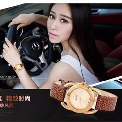 Đồng hồ nữ dây da chính hãng JU971 vàng - Thương Hiệu