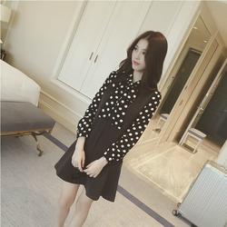 Đầm đuôi cá chấm bi Hàn Quốc