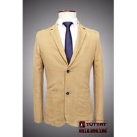 Áo vest thô, vest kaki nam TUTTAT 88001-16 Vàng kem