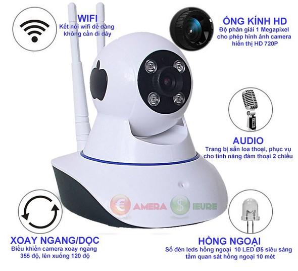 Camera Smart IP Wifi HDP-888IP