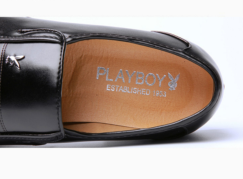 Giày da nam phong cách Ý đính logo - BS 609 3