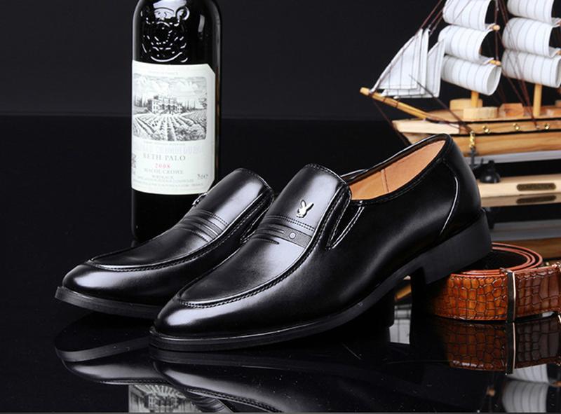 Giày da nam phong cách Ý đính logo - BS 609 8