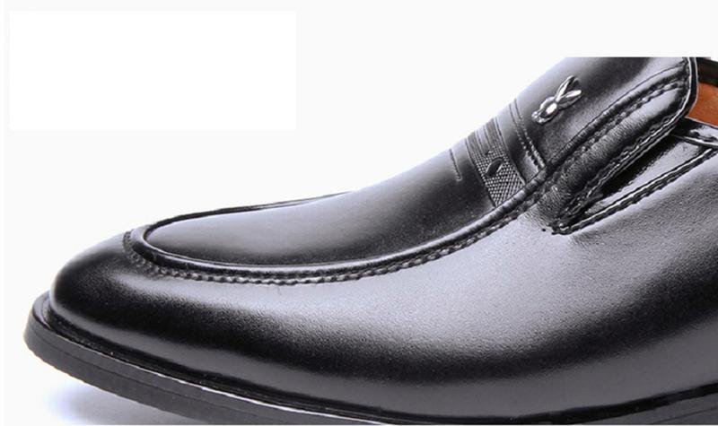 Giày da nam phong cách Ý đính logo - BS 609 4