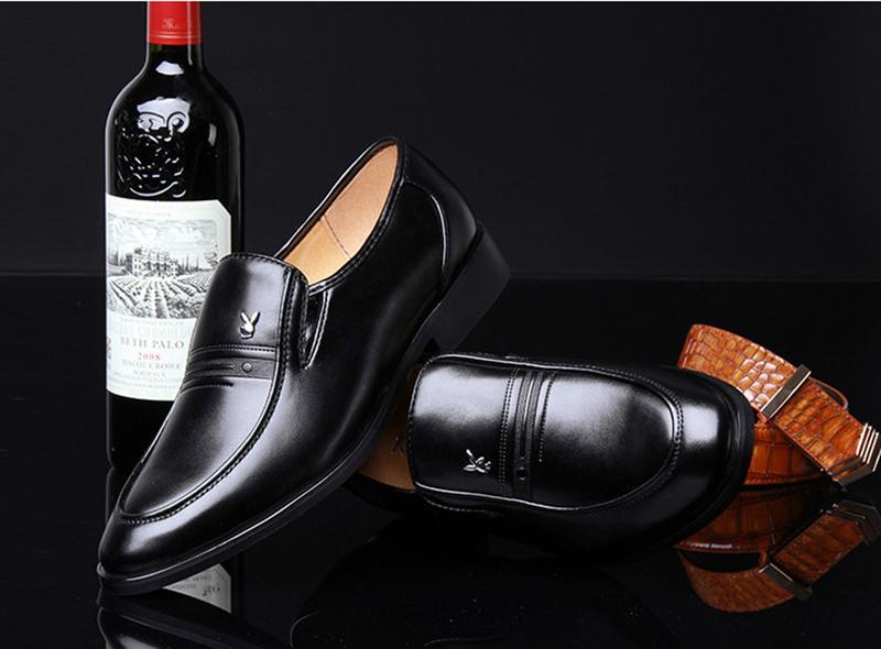 Giày da nam phong cách Ý đính logo - BS 609 7