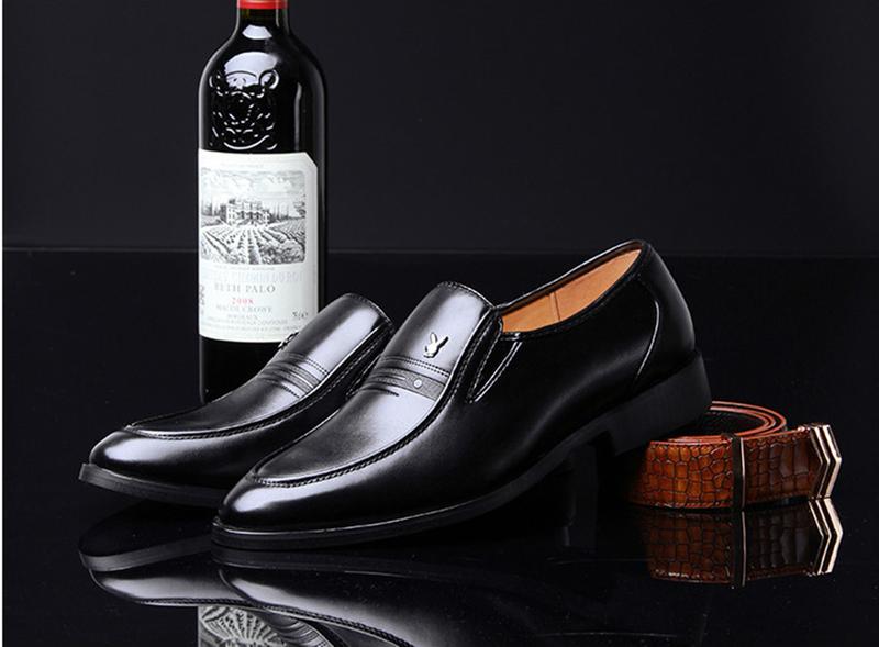 Giày da nam phong cách Ý đính logo - BS 609 6