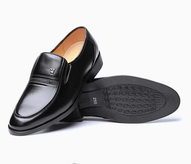 Giày da nam phong cách Ý đính logo - BS 609 11