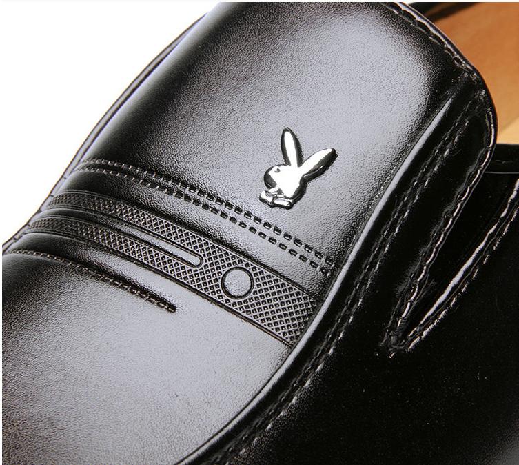 Giày da nam phong cách Ý đính logo - BS 609 12
