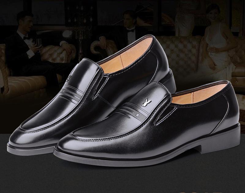 Giày da nam phong cách Ý đính logo - BS 609 2