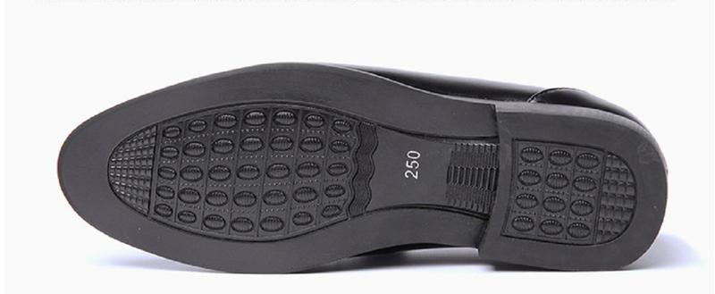 Giày da nam phong cách Ý đính logo - BS 609 5
