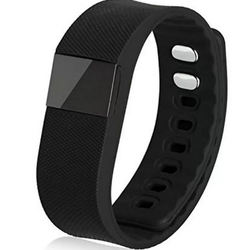 Vòng đeo tay thông minh theo dõi sức khỏe SmartBand TW64 IOS màu Đen