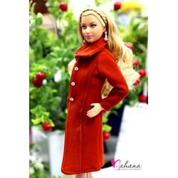 Áo mùa đông ấm áp cho barbie