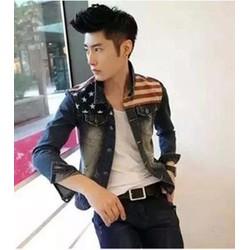 áo khoác jeans sọc ngôi sao rách Mã: NK0680