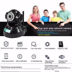 Camera quan sát không dây chuẩn HD P2P: Có đèn hồng ngoại