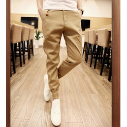 quần dài kaki jogger ống túm Mã: ND0562 - KEM