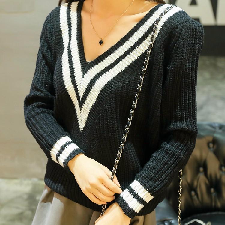 Áo len cổ viền trắng TADM1000 1