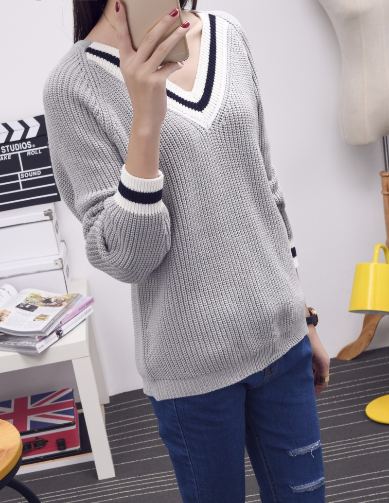 Áo len cổ viền trắng TADM1000 5