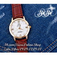 Đồng hồ dây da thời trang giả cẩn xà cừ - FW 07