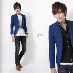 Áo vest nam body sang trọng, quyến rũ màu xanh coban