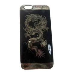Ốp lưng silicon hình rồng iphone 5 5s 6 6plus  Đen