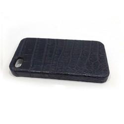 Ốp lưng giả da cá sấu iphone 4 4s Đen