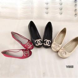 Giày búp bê đính tag chanel  YK_VG05