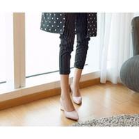 MD1663-Giày nữ công sở gót vuông Titan