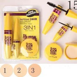 Bộ make up Maybelline 3 in 1