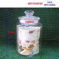 Hũ Thủy Tinh size 1500ml, Đựng Gia Vị - Ngâm Củ Quả - Bánh Kẹo