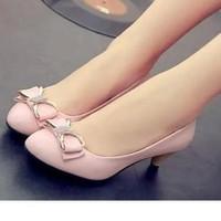 Giày cao gót Xinh Phối Nơ Gót 5cm
