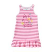 Đầm xòe chân sọc hồng cực xinh cho bé từ 1 tuổi đến 3 tuổi