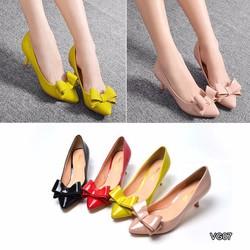 Giày cao gót đính nơ xinh xắn - VG07
