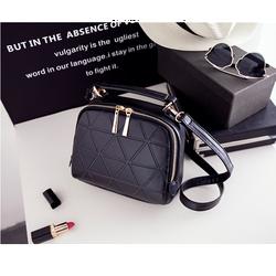Túi xách nữ hộp vuông sang trọng in viền màu đen