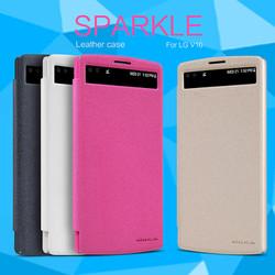 Bao da LG V10 NEW LEATHER CASE- Sparkle Leather Case, F600