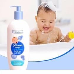 Sữa tắm gội cho bé Evoluderm Gel Lavant Doux BéBé 500ml  Pháp.