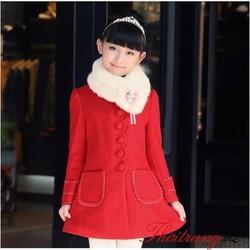 AK-N-BG03|Áo khoác nỉ kèm khăn choàng cho bé gái