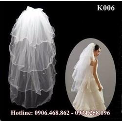 Khoăn voan cô dâu K006