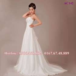 Váy cưới dáng A AC142